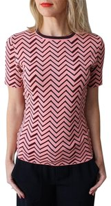 APIECE APART Chevron Knit Top Pink