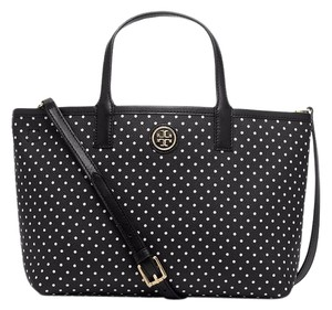 Tory Burch Tote in black w/white dots