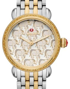 Michele NWT Exotic Creatures Topaz, Elephant Diamond Dial Watch MWW05E000005