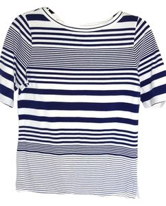 Lauren Ralph Lauren Purple White T Shirt PURPLE/WHITE STRIPE