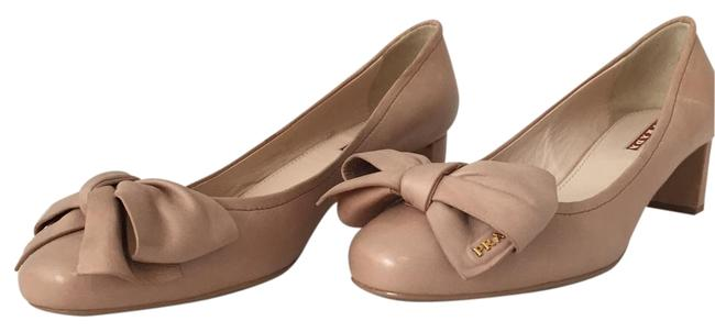 Item - Nude Leather Bow Kitten Flats Size US 9.5 Regular (M, B)