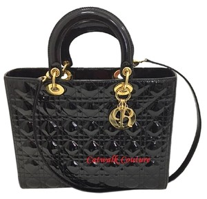 Dior Classic Patent Lady Shoulder Bag