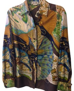 Herms Hermes Silk Vintage Top Multi