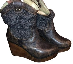 Bed|Stü Metallic/charcoal-brown Boots
