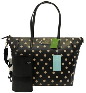 Kate Spade Black, Beige, Gold Diaper Bag