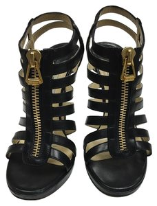 Jimmy Choo Gladiator Cage Black Sandals