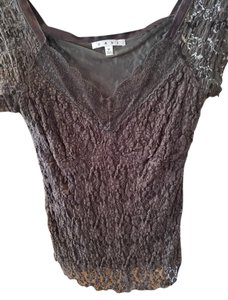 CAbi Lacy Evening Top Brown