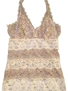 Guess Cream tan Halter Top