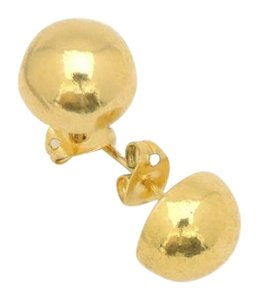11mm Gold Filled Minimalist Fancy Ball Stud Earrings