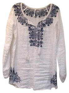 Other Linen Boho Embroidered Tassels Tunic
