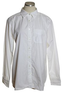 Lands' End Button Down Shirt White