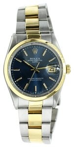 Rolex Two Tone Rolex Oyster Perpetual Date Watch