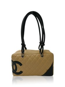 Chanel Cambon Satchel in Beige and Black