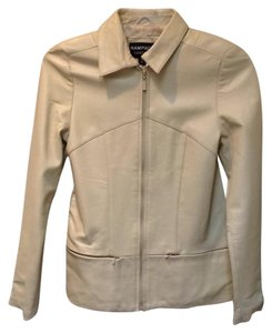 Rampage Leather Ivory Leather Jacket