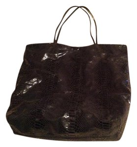 Carlos Falchi Leather Tote in Black