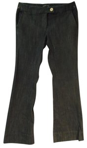 New York & Company Stretchy Trouser/Wide Leg Jeans-Dark Rinse