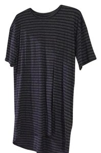 LuLaRoe T Shirt Dark blue with stripes