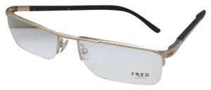 Fred Lunettes New FRED LUNETTES Eyeglasses MOVE EVO 006 57-18 Gold Plated Frame