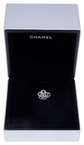 Chanel Chanel 18k White Gold Camelia Ring w/ Diamonds