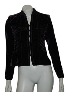 Elie Tahari Velvet Holiday Velvet PURPLE Blazer