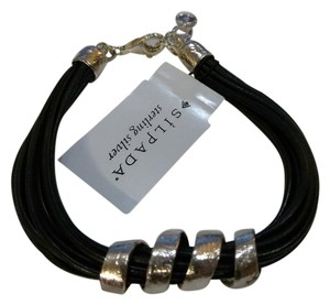 Silpada Leather Sterling silver