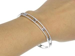 Tiffany & Co. Tiffany & Co 18k White Gold Atlas Diamond Bracelet
