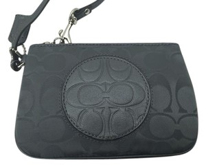 Coach Small Signature Wristlet in CHARCOAL GRAY