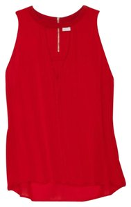 A.L.C. Silk Ruby Red Halter Top