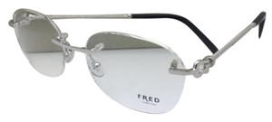 Fred Lunettes Rimless FRED LUNETTES Eyeglasses FORCE 10 8418 002 53-18 Platinum