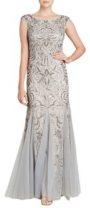 Adrianna Papell Beaded Embroidered Cap Sleeve Dress