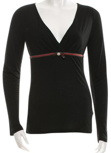 Gucci Longsleeve Web Top Black, Green, Red