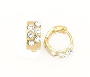 Other Gold Filled Round Thick Petite Huggie Earrings