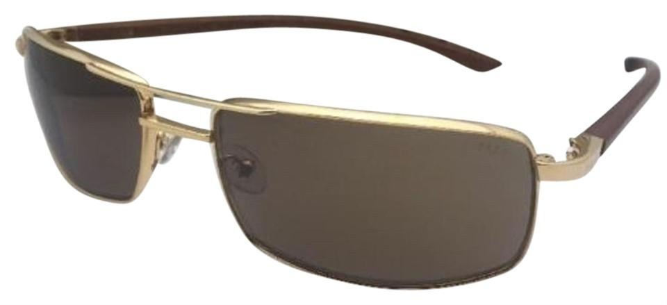 Fred Lunettes New FRED LUNETTES Sunglasses ELLESMERE SUN 206 C1 Gold  Aviator w  Wood ... 3823a81e70f5