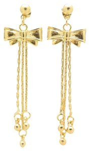 Other 18KT Pretty In a Bow Fringe Gold Filled Earrings