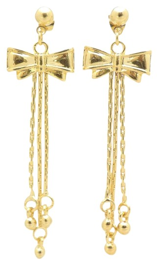 Preload https://img-static.tradesy.com/item/20081452/gold-filled-gold-18kt-pretty-in-a-bow-fringe-earrings-0-1-540-540.jpg