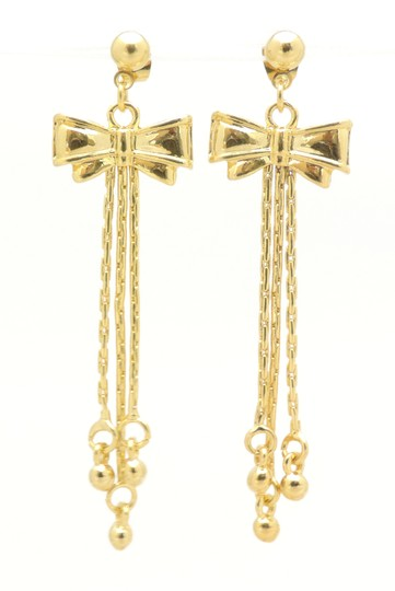 Other 18KT Pretty In a Bow Fringe Gold Filled Earrings Image 1