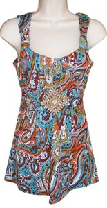 Speechless Beaded Colorful Top Multi-color
