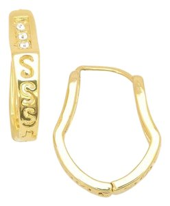 Other The Bella Abstract Hoop Gold Filled Earrings