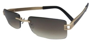 Fred Lunettes FRED LUNETTES Sunglasses HAWAI F1 217 Gold Plated Rimless w/Mirror