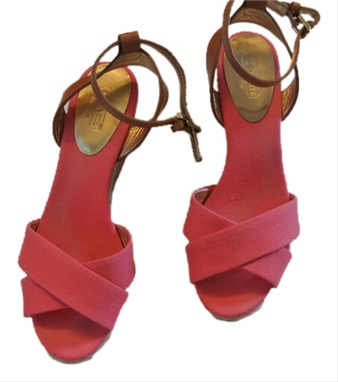Coach pink Wedges