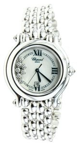 Chopard Happy Sport diamond and white gold ladies watch
