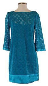 Laundry by Shelli Segal Lace Shift Sheath Longsleeve Dress