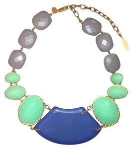 David Aubrey Blue And Green Bib Necklace