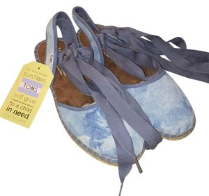 TOMS Skyway Blue Washed Suede Flats