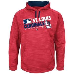 Majestic MLB MAJESTIC AUTHENTIC COLLECTION ST. LOUIS CARDINALS TEAM HOODIE