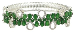 Other Emerald Ladies Silver Bangle Bracelet