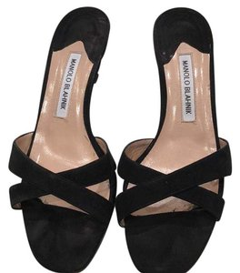 Manolo Blahnik Black suede Sandals
