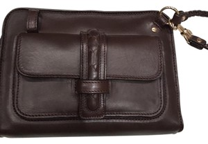 Bottega Veneta Bottega Bottega Clutch Wristlet in Brown