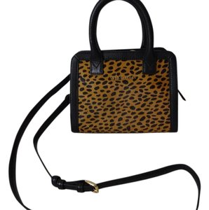 Vera Bradley Dust Satchel in Black Cheetah