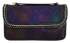 Henri Bendel Date Night Metallic Shopping Night Out Travel Cross Body Bag